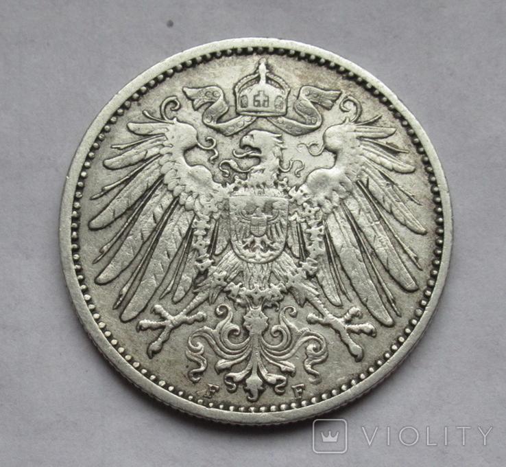 1 марка 1902 г. (F) Германия, серебро, фото №6
