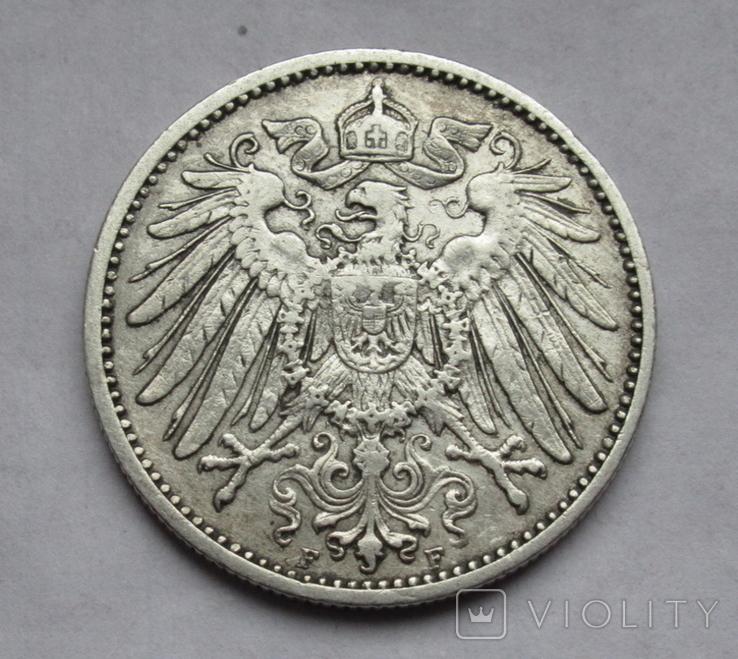 1 марка 1902 г. (F) Германия, серебро, фото №7