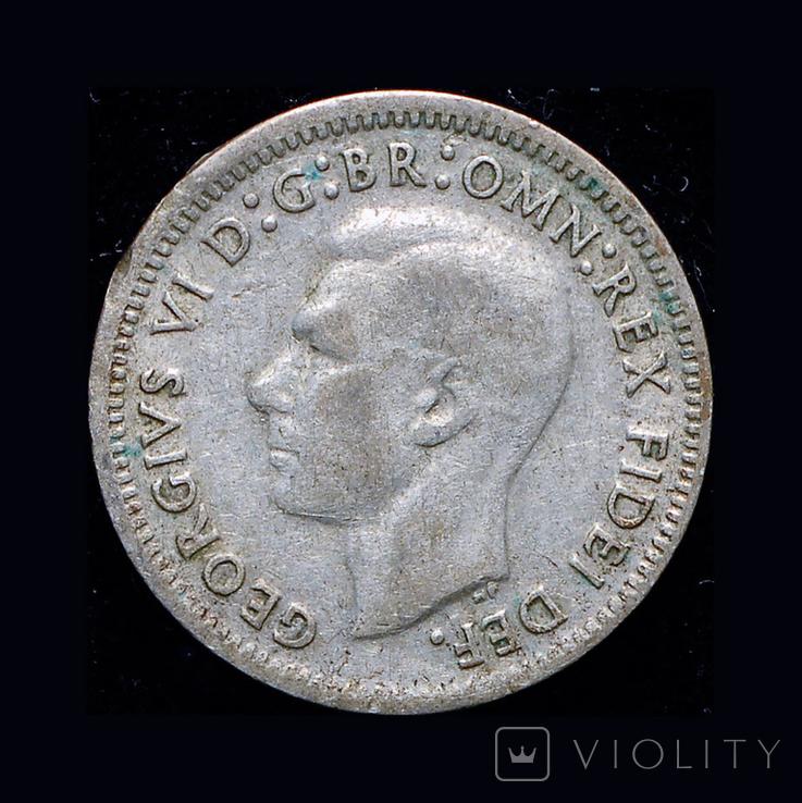 Австралия 3 пенса 1959 серебро, фото №3