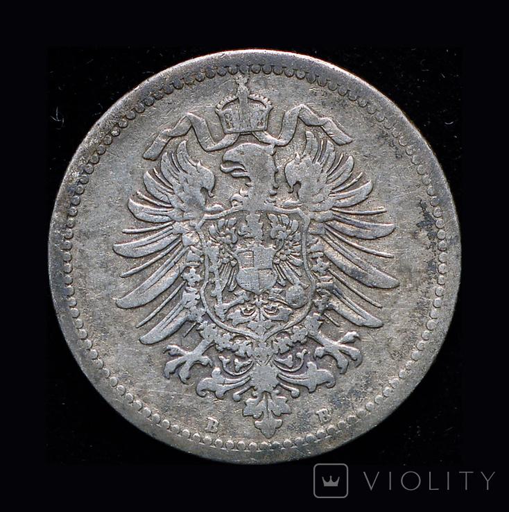 Германия 50 пфенигов 1877 В серебро, фото №3