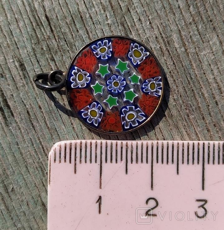 Кулон миллефиори, Италия, серебро 925(лот 2)., фото №7