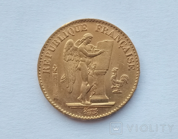 Франция 20 франков 1871 год, фото №2