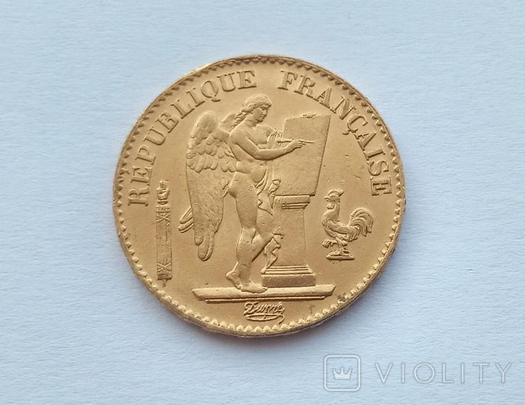 Франция 20 франков 1871 год, фото №3