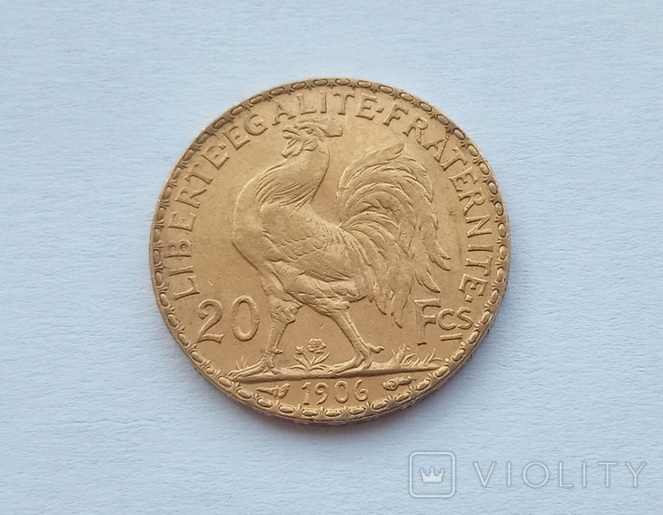 Франция 20 франков 1906 год, фото №5