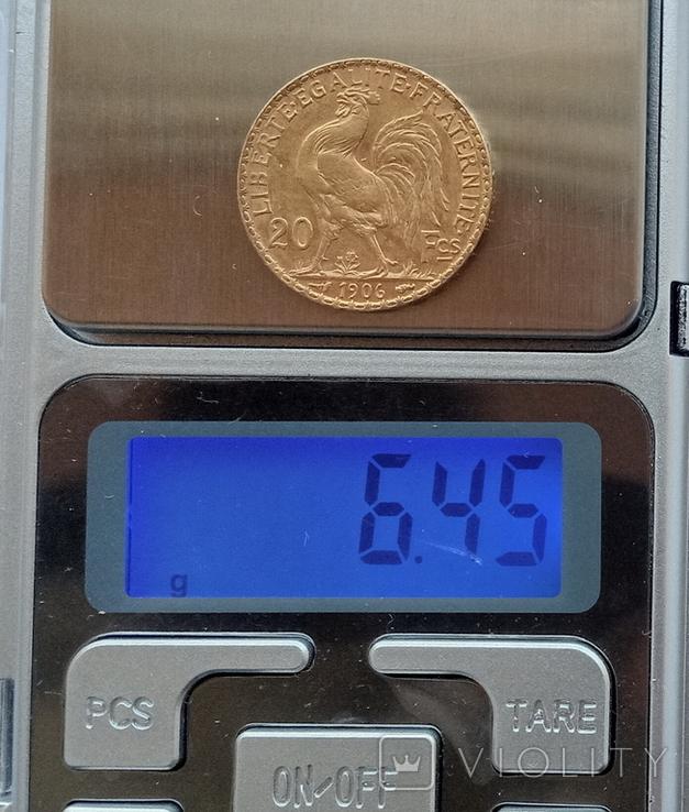 Франция 20 франков 1906 год, фото №7