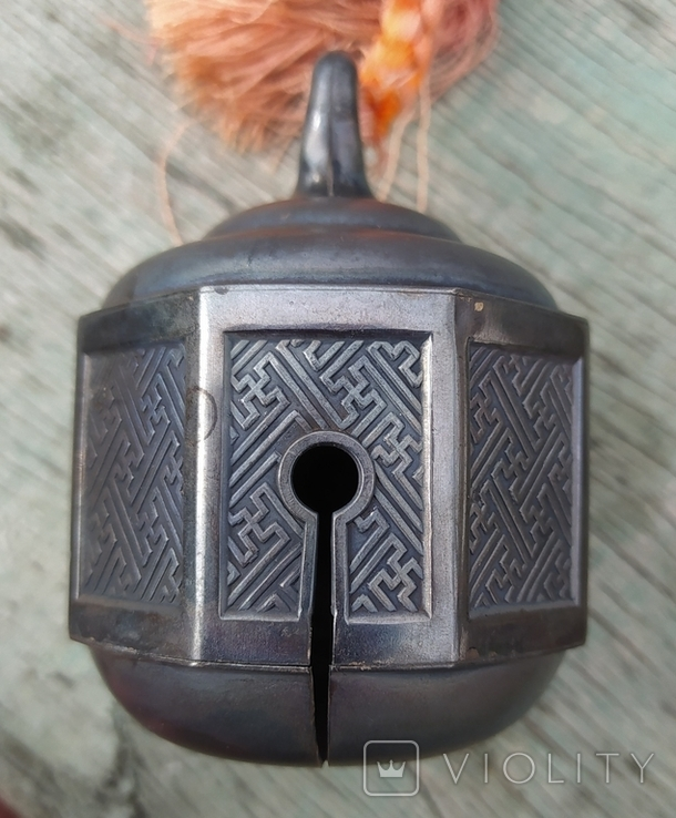 Серебряный колокольчик со свастикой, Япония, 19 век., фото №5