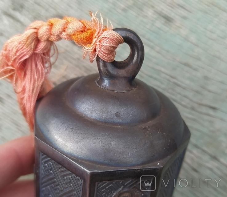 Серебряный колокольчик со свастикой, Япония, 19 век., фото №11