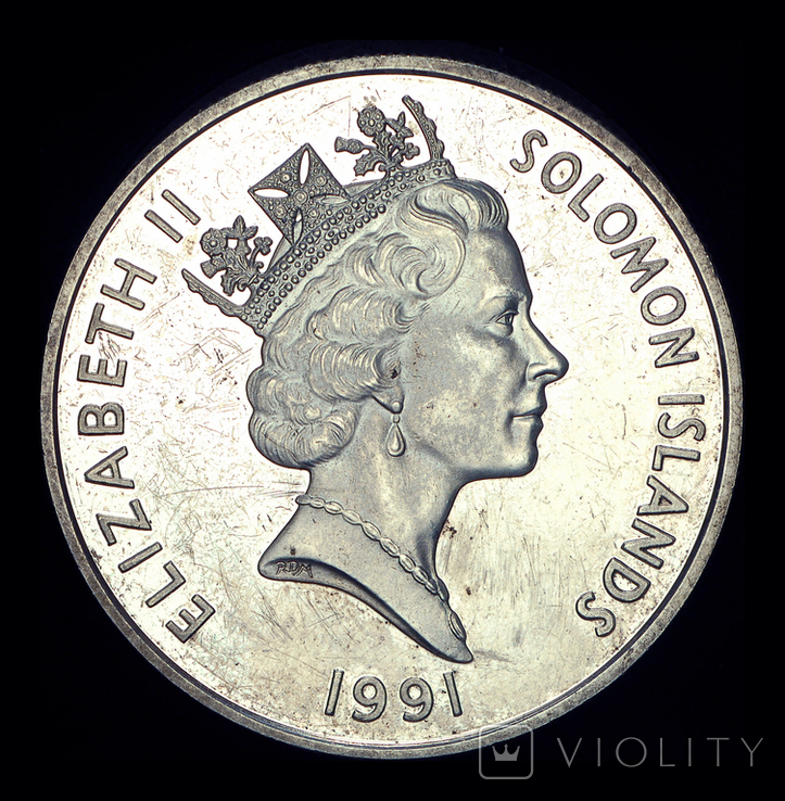 Соломоновы острова 1 доллар 1991 Перл Харбор, фото №3