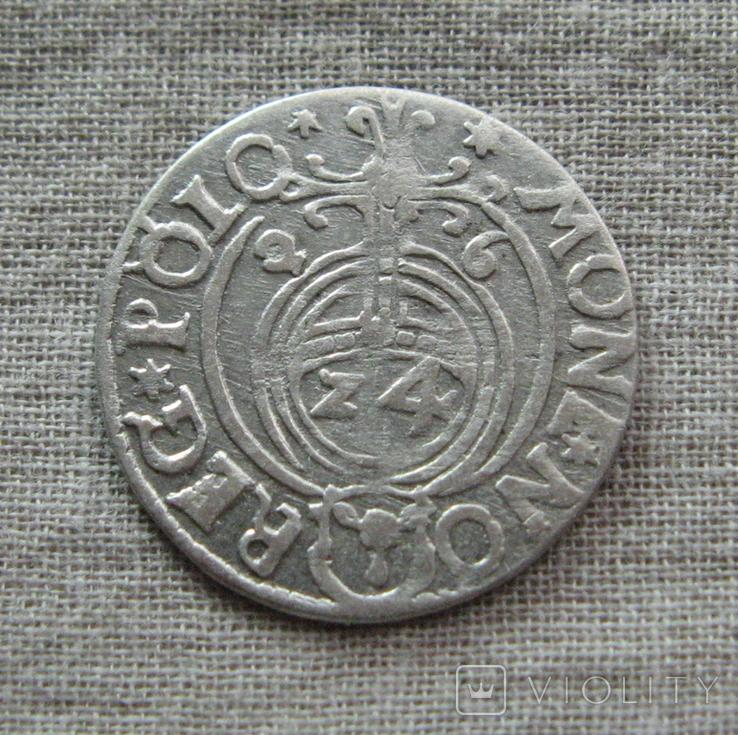 Полторак ( 1/24 талера ) 1626 года. Сиг. ІІІ Ваза. PO(O)LO., фото №3
