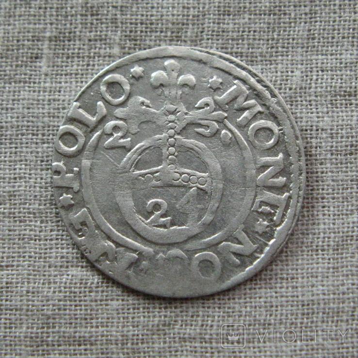 Полторак ( 1/24 талера ) 1621 года. Сиг. ІІІ Ваза., фото №2