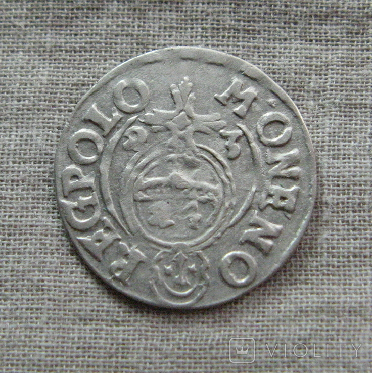 Полторак ( 1/24 талера ) 1623 года. Сиг. ІІІ Ваза. M ' ONENO., фото №6