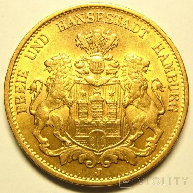 Гамбург 20 марок 1900 г., фото №3
