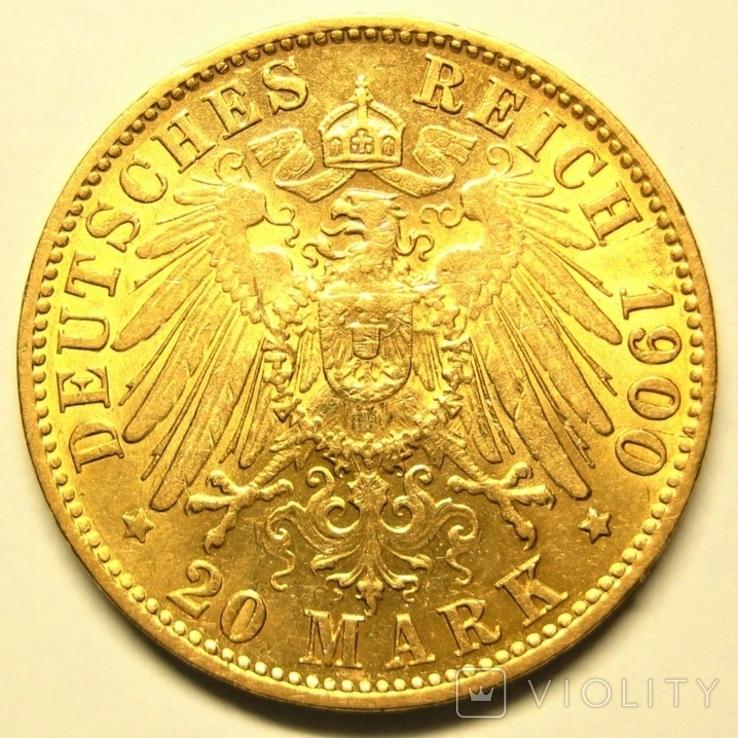 Гамбург 20 марок 1900 г., фото №5