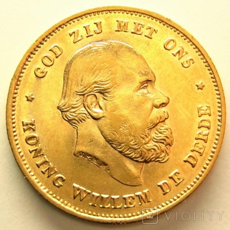 Нидерланды 10 гульденов 1875 г., фото №2