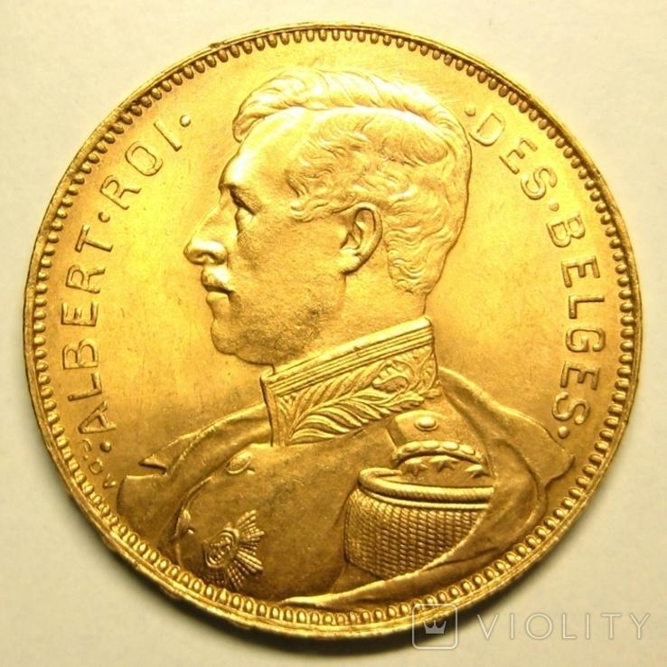 Бельгия 20 франков 1914 г. DES BELGES, фото №2