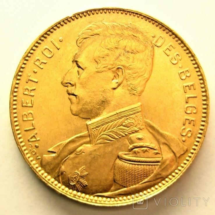 Бельгия 20 франков 1914 г. DES BELGES, фото №3