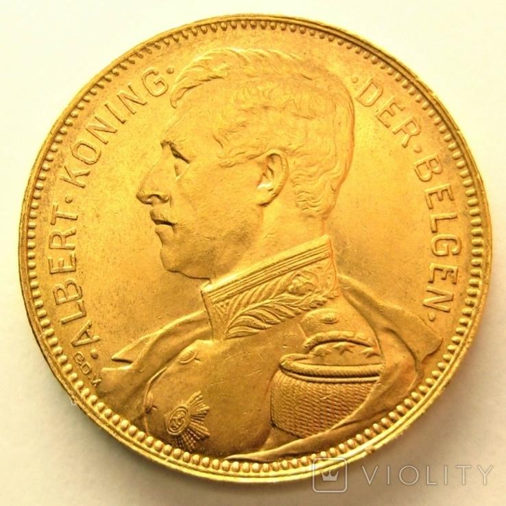 Бельгия 20 франков 1914 г. DER BELGEN, фото №2