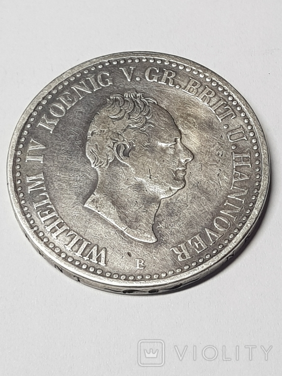 1Талєр Ганновер 1836р.срібло21,98гр, фото №2