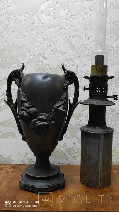 Большая керассиновая лампа 19 век., фото №5