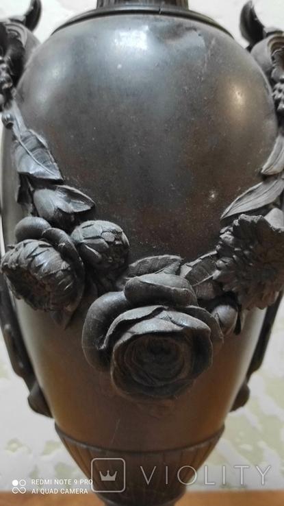 Большая керассиновая лампа 19 век., фото №8