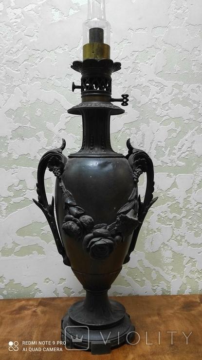 Большая керассиновая лампа 19 век., фото №9