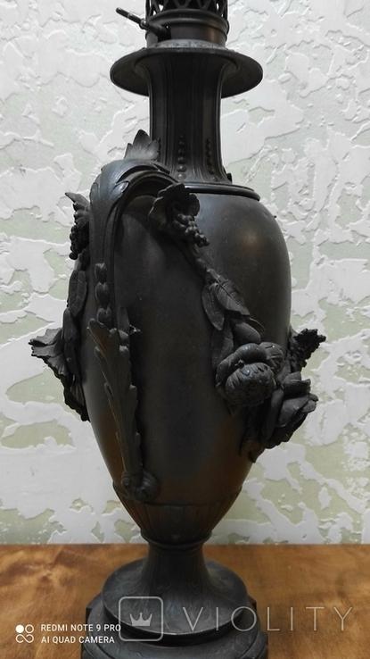 Большая керассиновая лампа 19 век., фото №11