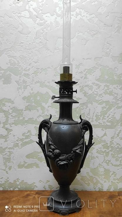 Большая керассиновая лампа 19 век., фото №2