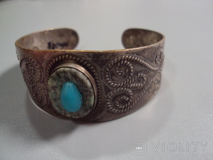 Жесткий браслет мельхиор толщина 3 см диаметр 5,9 см, фото №10