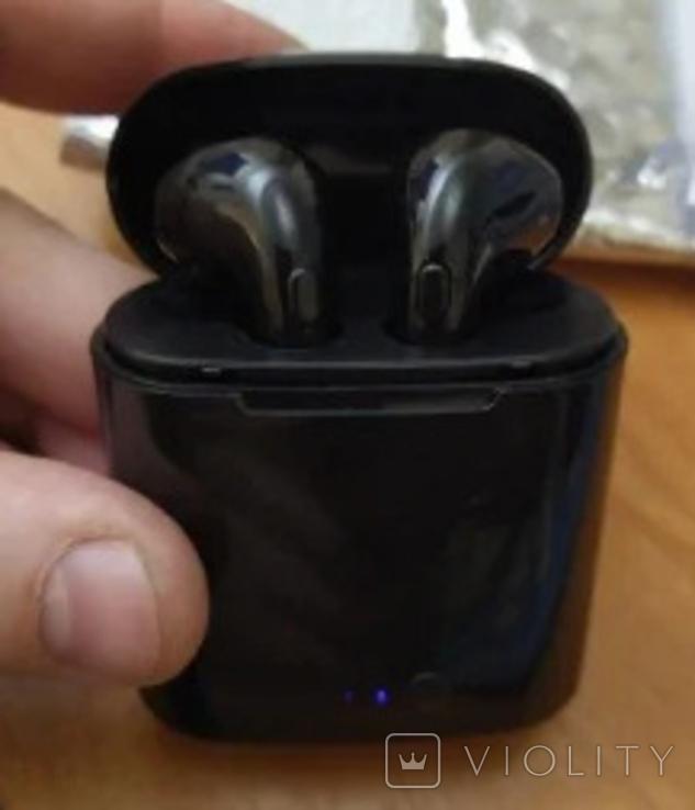 Наушники i7 Tws Bluetooth c зарядным боксом (чёрные), фото №5