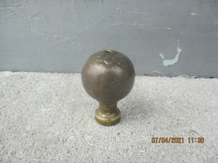 Старая дверная ручка бронза (78гр.), фото №3
