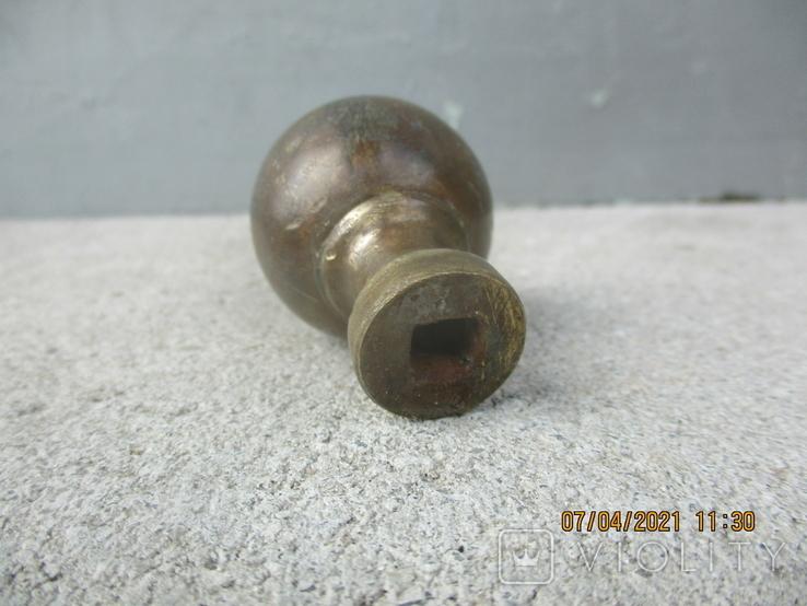 Старая дверная ручка бронза (78гр.), фото №6