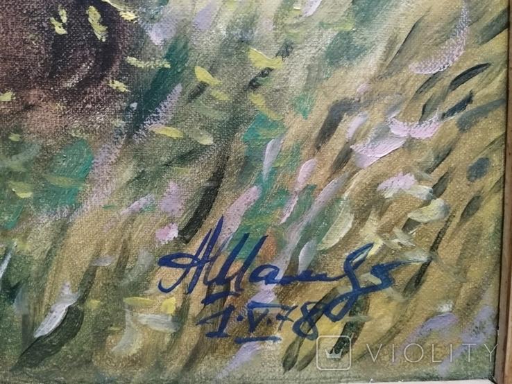 1978г.Тарас Бульба.Жаль трубку.Копия.88.5х68.5см.Подписана., фото №6