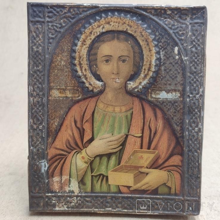 Св.Целитель Пантелеймон. 11х13см., фото №2