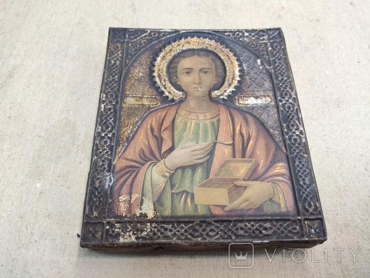 Св.Целитель Пантелеймон. 11х13см., фото №6