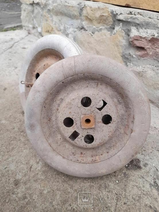Запчасти к детской педальной машины (колеса и тяга), фото №4