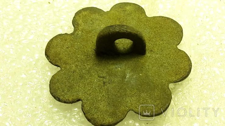 Старинная пуговица с эмалью, фото №4