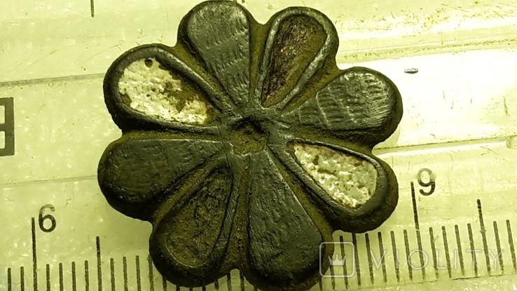 Старинная пуговица с эмалью, фото №5