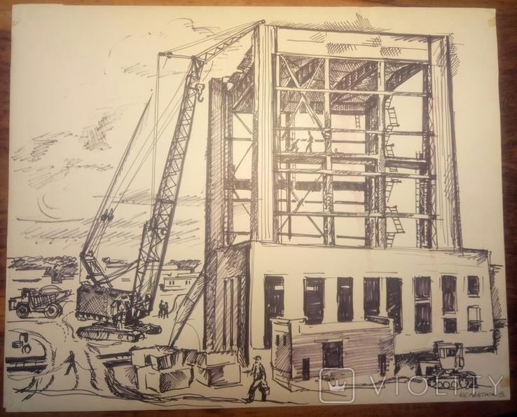 ЧАЕС стройка 1976 год.41-50см., фото №2