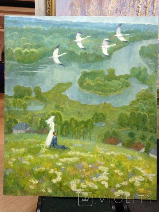 Большая картина Летят журавли 1975 год, Полурезов Г.И. (1927), фото №2
