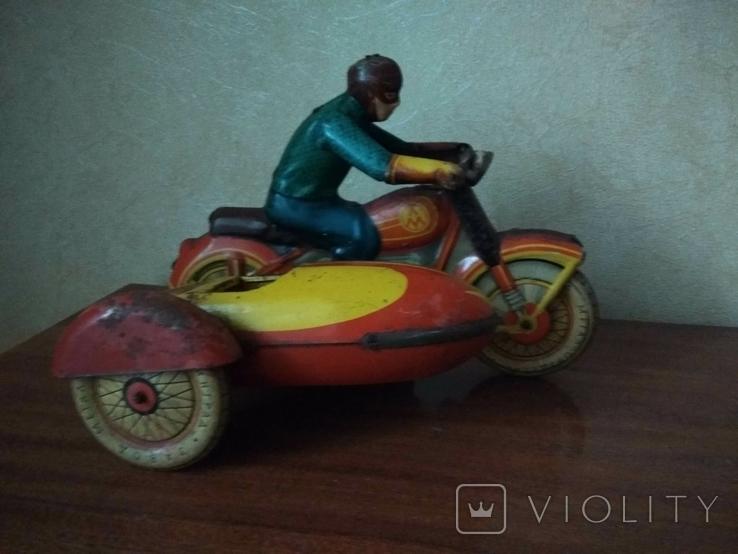 Мотоцикл с коляской 50 е годы., фото №2