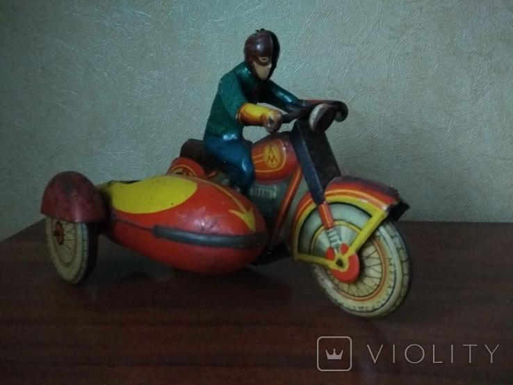 Мотоцикл с коляской 50 е годы., фото №4