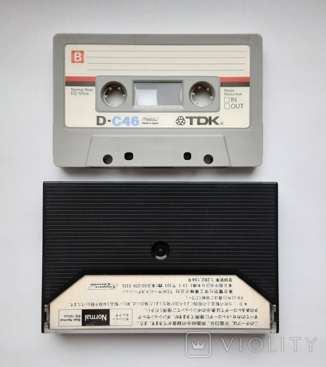 Аудиокассета TDK D-C46 (Jap 1979), фото №3