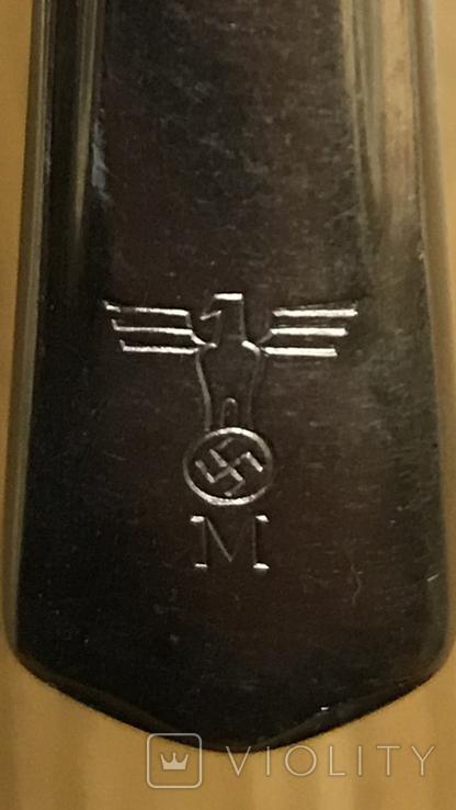 Десертный нож Кригсмарине. Третий Рейх, свастика., фото №7