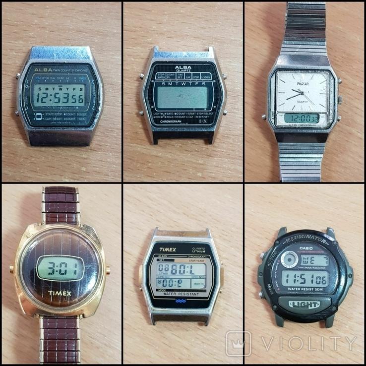 Лот часов 13 шт. / Casio, Alba, Timex, Citizen, QQ, BULOVA, phasar булова, фото №2