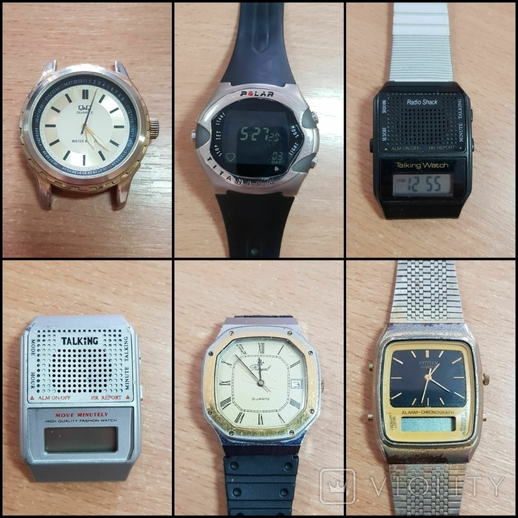 Лот часов 13 шт. / Casio, Alba, Timex, Citizen, QQ, BULOVA, phasar булова, фото №3