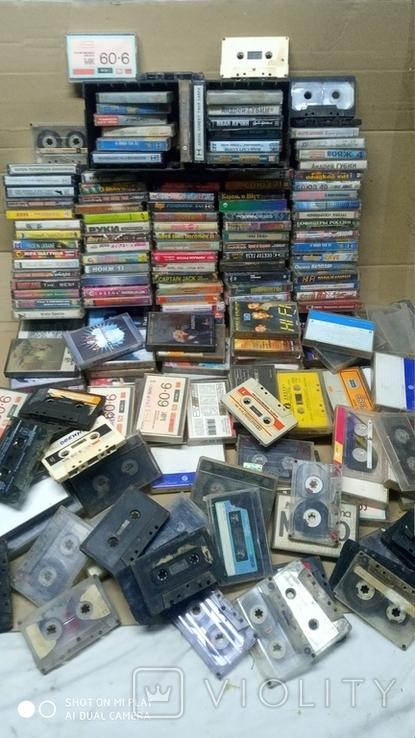 Аудиокассеты 90-2000 годов 195 штук, фото №2