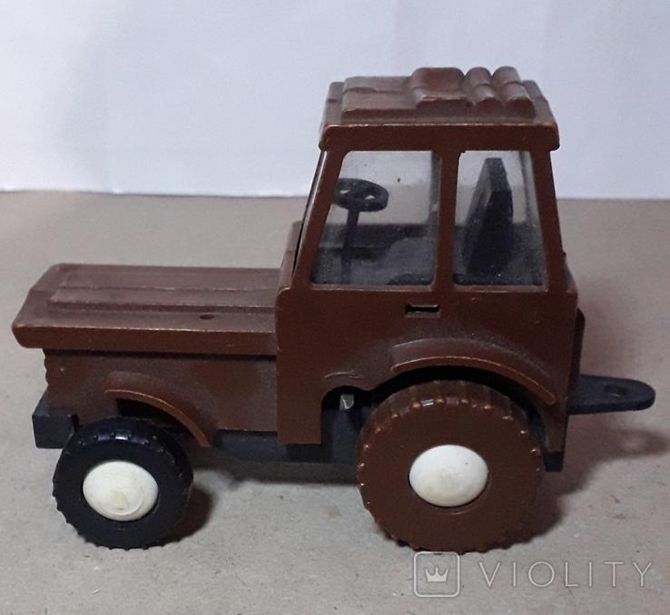 Игрушка трактор МТЗ Беларусь. Cделано в СССР, длина 13 см, фото №2