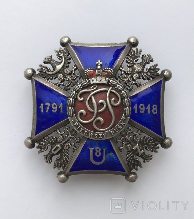 Офіцерська відзнака 8 уланського полку кн. Юзефа Понятовського Краків, фото №2