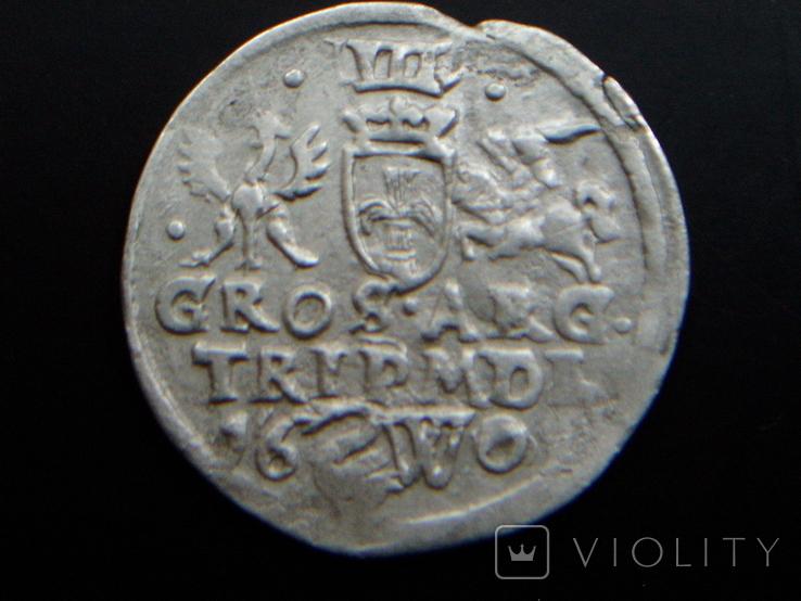 Трояк Литовский 1601 (Вильно W лебедь R5)., фото №3