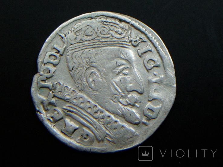 Трояк Литовский 1601 (Вильно W лебедь R5)., фото №4